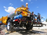 Tack Coat Sprayer STRATOS by PavementGroup shown in 400 gallon capacity, with 12' spraybar, 50' hose and applicator wand