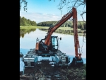 Remu E10 Big Float Amphibious Excavator
